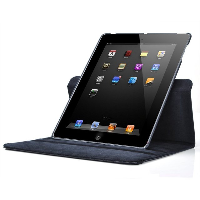 New for iPad mini 1 mini 2 mini 3 Case 360 Rotation Flip Stand A1432 A1454 Protective Cover for iPad mini 1 2 3 Smart Cover