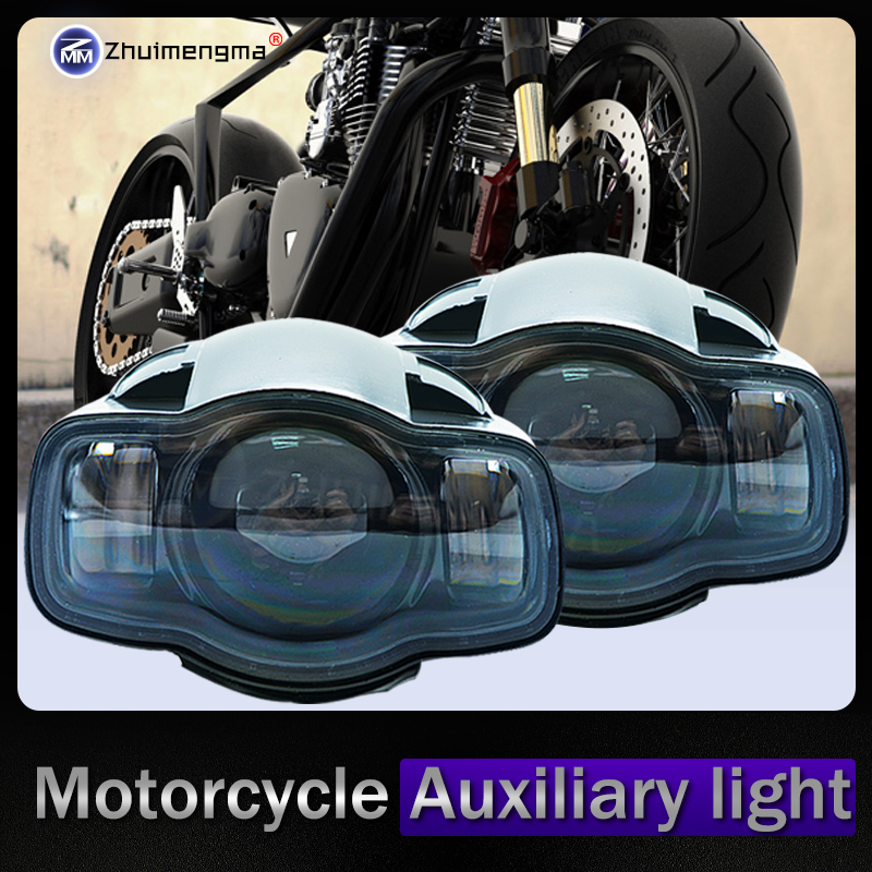 2piece Universal Motorcycle Multi-Car 20W 2000LM LED Spot Light Driving Fog Lamp Auxiliary Light Car Motorcycle Headlight