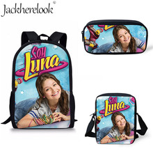 цена на Jackherelook Children School Bags Soy Luna Girl Printing School Backpack for Girls Book Bags Orthopedic Schoolbag Ruckpack Mujer