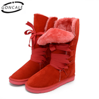 2017 High Quality Band Snow Boots Women S Winter Boot Women Fashion Genuine Leather Australia Classic