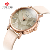 2018 Summer New Creative Women Quartz Wrist Watch Julius Montre Femme Genuine Clock Hour Japan 2035 Movement Casual Watch JA 985