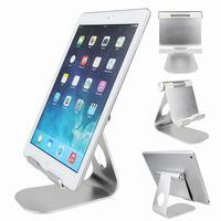 Tablet stand titular suporte de mesa de alumínio suporte de mesa para iphone 7 samsung s7 borda ipad com ajustável portátil doca de carregamento