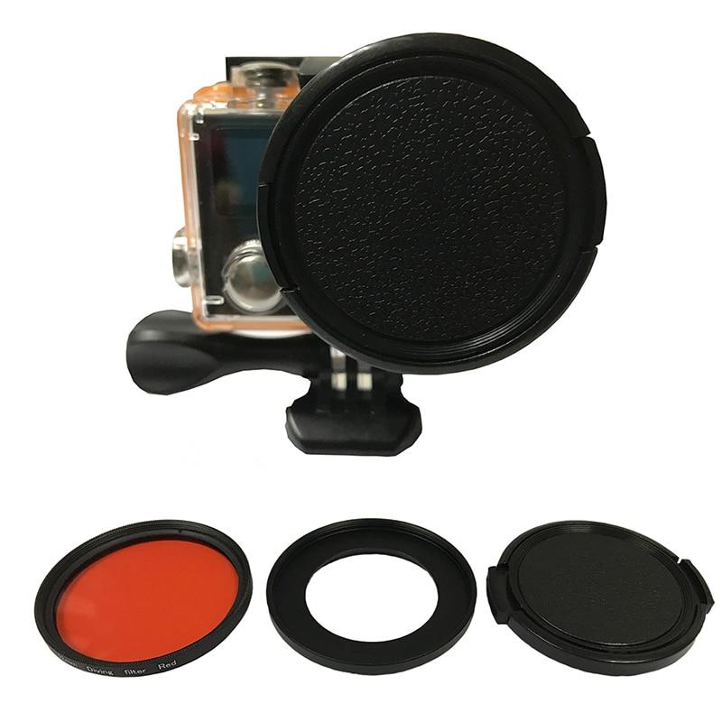 Tekcam para los accesorios Filtro de buceo rojo para eken H9 H9R h9pro H9SE H9R se H8PRO H8SE H8 H8R H3 h3R V8S eken Accesorios