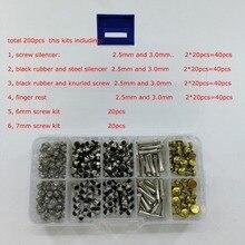 200 шт./лот в коробке набор для ремонта ножниц аксессуары для парикмахерских ножниц