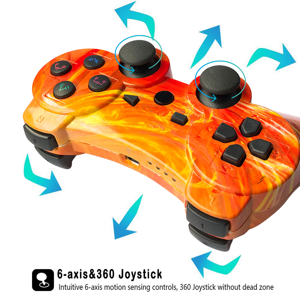 Multicolored Bluetooth Controller For SONY PS3 Gamepad For Play Station 3 Wireless Joystick For Playstation 3 PC SIXAXIS Control