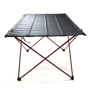Image 4 - طاولة قابلة للطي طاولة تخييم في الهواء الطلق خفيفة الوزن المحمولة للتخييم ، الشاطئ ، الفناء الخلفي ، شواء.