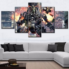 High Quality Canvas Print Game Poster Modern Wall Artwork Home Decorative Living Room 5 Piece Titanfall Picture Decor Framework