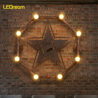 American retro style lamps and lanterns industry the balcony stars restaurant bar conduit wall lamp