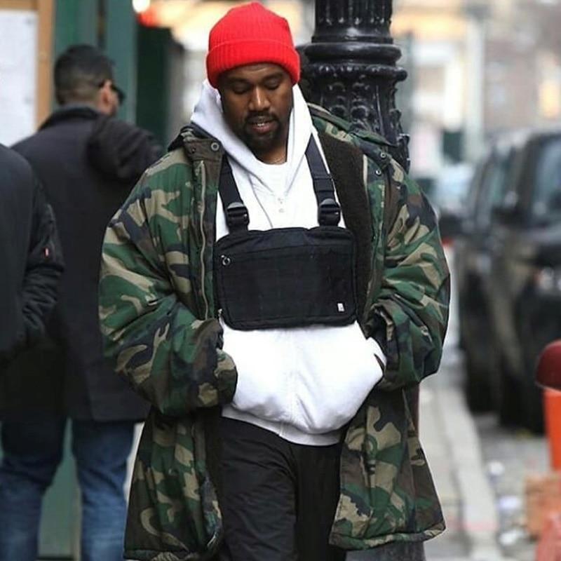 Fashion Chest Rig Men Hip Hop Streetwear Casual Functional Tactical Chest Bag Kanye West Cool Boy Cross Shoulder Bag C22