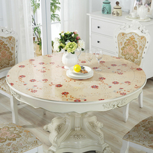 Customize Round table mat PVC round tablecloth Waterproof oilproof plastic placemat wooden dining Party decoration pad