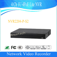 Free Shipping Dahua 4Ch 1U 4PoE Lite Network Video Recorde English Version NVR H 264 HD