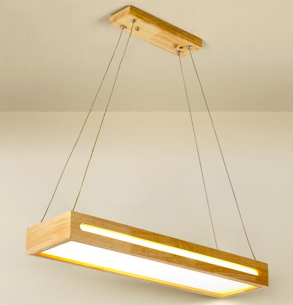 Solid wood chandelier creative Chinese solid living room, dining room lights, simple clothing decorative lights MZ100 bamboo cages pendant lights creative hand made living room dining room simple coffee shop clothing store decorative lamps za