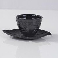 2017 Cast Iron Teacups With Pad Set Genuine 4 Pcs Japan Tea Cups Pads Drinkware 100ml Handmade Kung Fu Coffee Tools Top grade