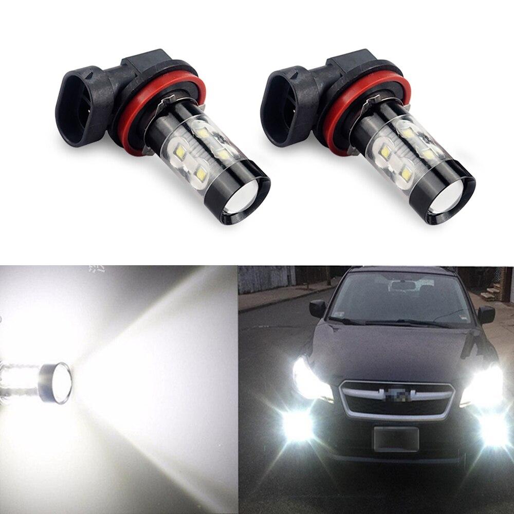 2x 50W HB4 H11 H8 LED Fog Lights Bulb H3 9006 LED DRL Lamp For Mercedes W212 W202 W204 W205 W203 W124 AMG Sprinter W210 C E GLA