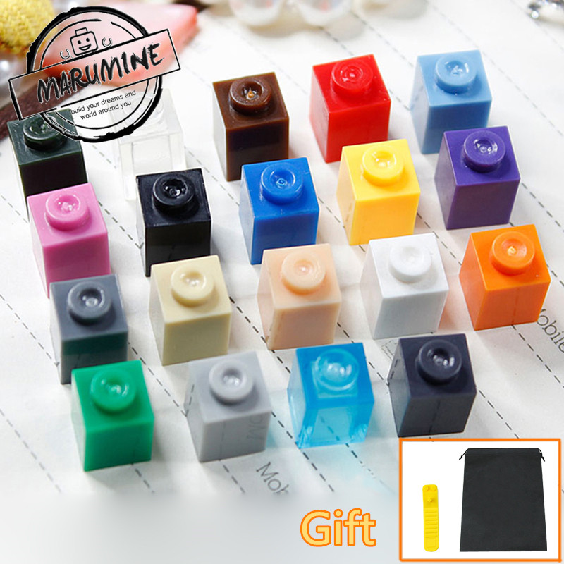 MOC Brick  1 x 1 Educational Toys Building Blocks City 13 Colors DIY Creative Bricks Compatible Whit Other Brand 300 pcs/lot decool 3117 city creator 3in1 vacation getaways building block 613pcs diy educational toys for children compatible legoe