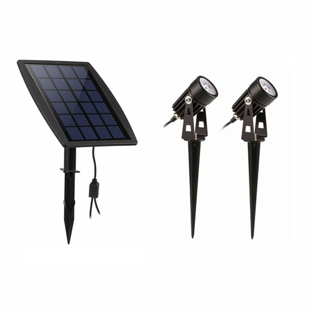 3 W Led Landschaft Solar Lichter Wasserdichte Outdoor Solar Scheinwerfer Für Hinterhof Einfahrt Terrasse Gärten Rasen
