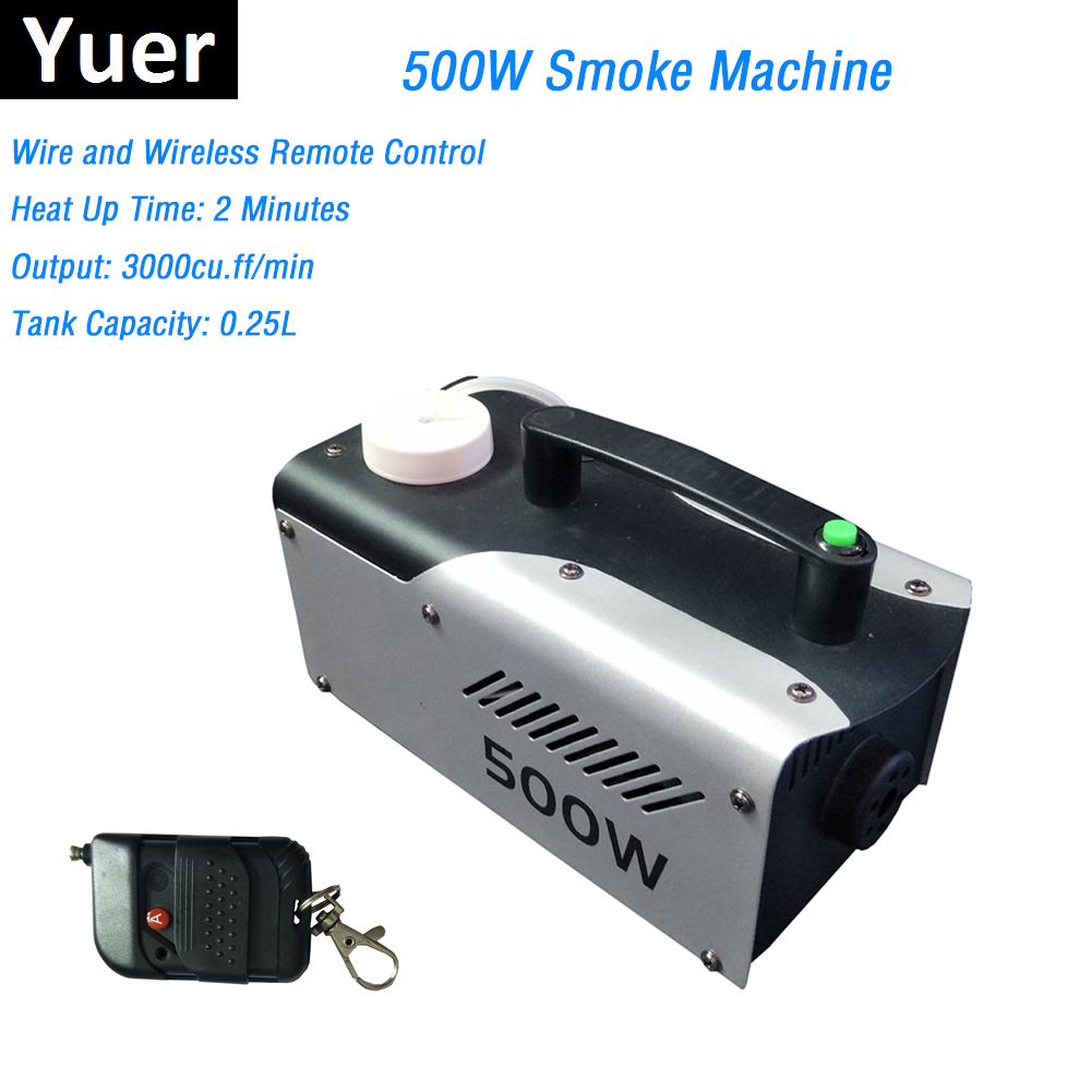 Portable 500W Fog Machine DMX Smoke Machine Wireless Remote Control/ Wire Control Smoke Ejector LED Dj Party Stage Machines