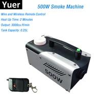 Portable 500W Fog Machine DMX Smoke Machine Wireless Remote Control/ Wire Control Smoke Ejector LED Dj Party Stage Machines