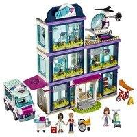 01039 LEPIN 932Pcs Friends Series Heartlake Hospital Model Building Blocks Enlighten Figure Toys For Children Compatible