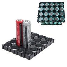 Suporte espaçador de baterias 4x5, célula de 40/50 pçs leve e durável, 10/20/30/18650 peças revestimento radiante de plástico em88