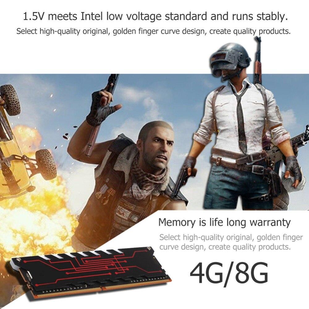 Mémoire interne 4G/8G RAM DDR4 2233 MHz mémoire serveur de radiateur pour ordinateur portable ordinateur portable Intel AMD carte mère