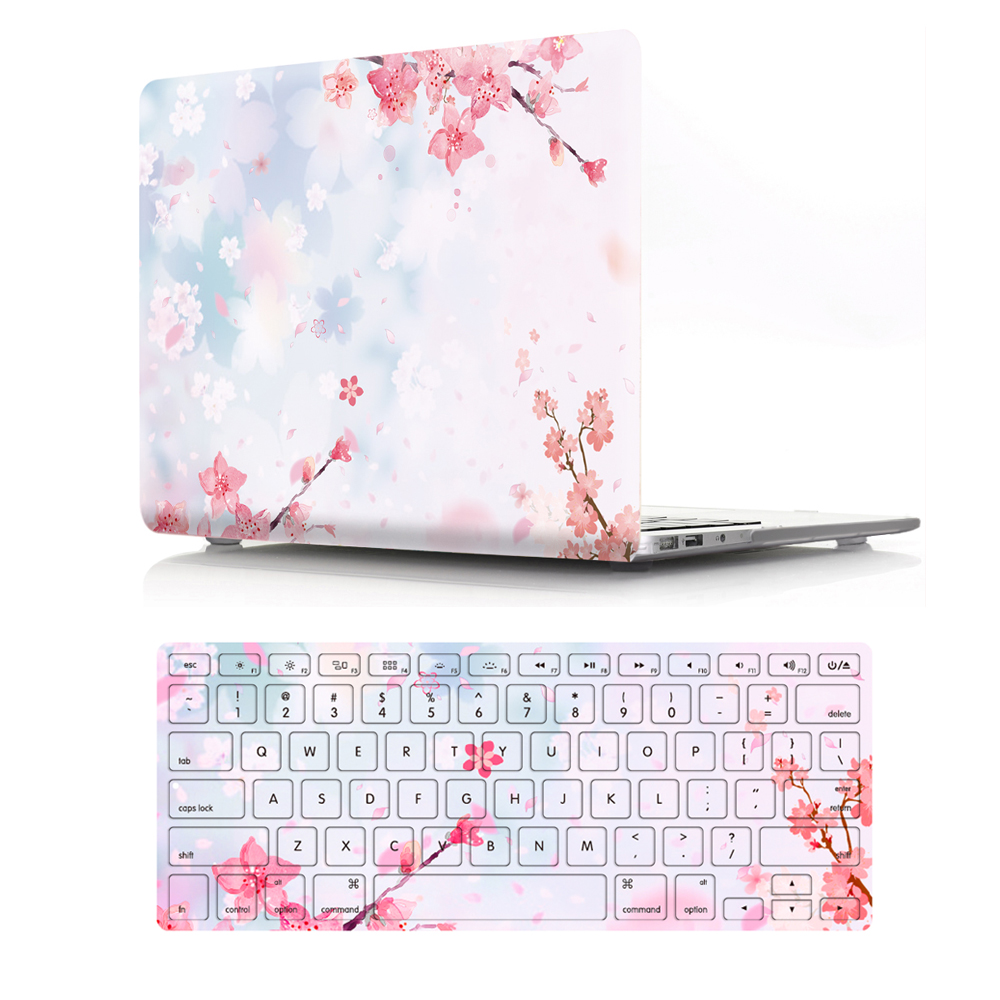 """Image 3 - Viviration Hot PVC Laptop Case W. Silicone Keyboard Cover Fashion Computer Accessories Set For Macbook Air 11 13 Pro 13.3 15.4""""-in Laptop Bags & Cases from Computer & Office"""
