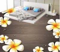 3d 바닥 나무 바닥 꽃 꽃 계란 꽃 3D 바닥 그림 3d pvc 벽지 방수 벽지 욕실