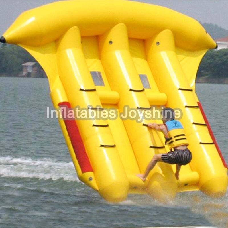 Livraison gratuite jeux de Sport nautique passionnants poisson-mouche gonflable, volants remorquables pour enfants et adultes avec pompe