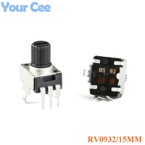 10pcs RV0932 Adjustable Handle 15MM Round Shaft Potentiometer 1K/102 5K/502 10K/103 50K/503 100K/104 WH09 0932(China)