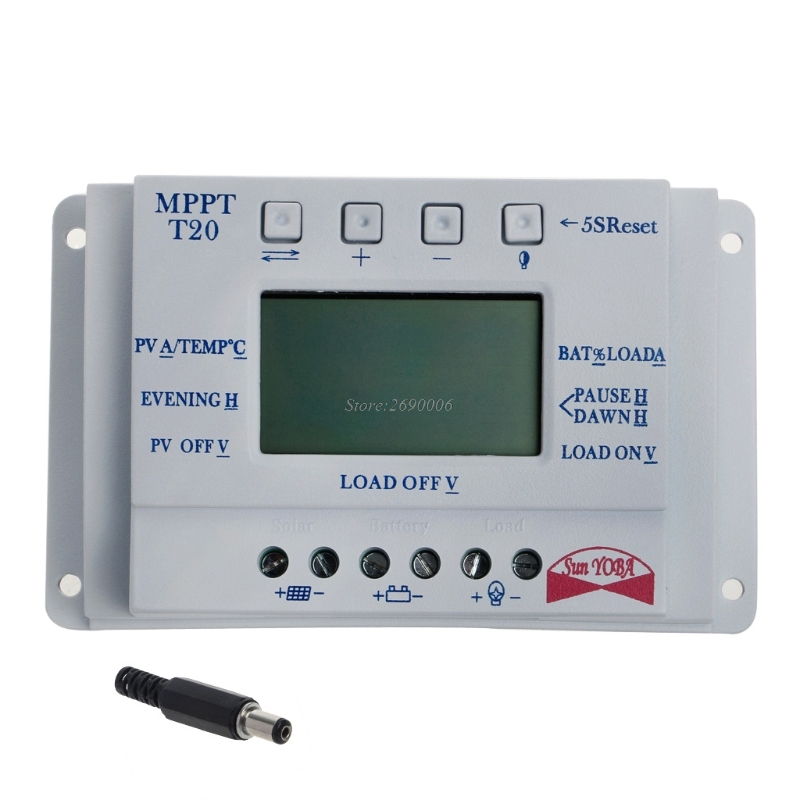 все цены на LCD Display12V/24V MPPT Solar Panel Battery Regulator Charge Controller  20/30/40A T20 LCD JUN13 онлайн