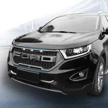 Hr Front Racing Grill Fit For Ford Edge Matt Black