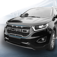 HR front Racing grill Grills fit for Ford Edge Matt black grill 2015 2017