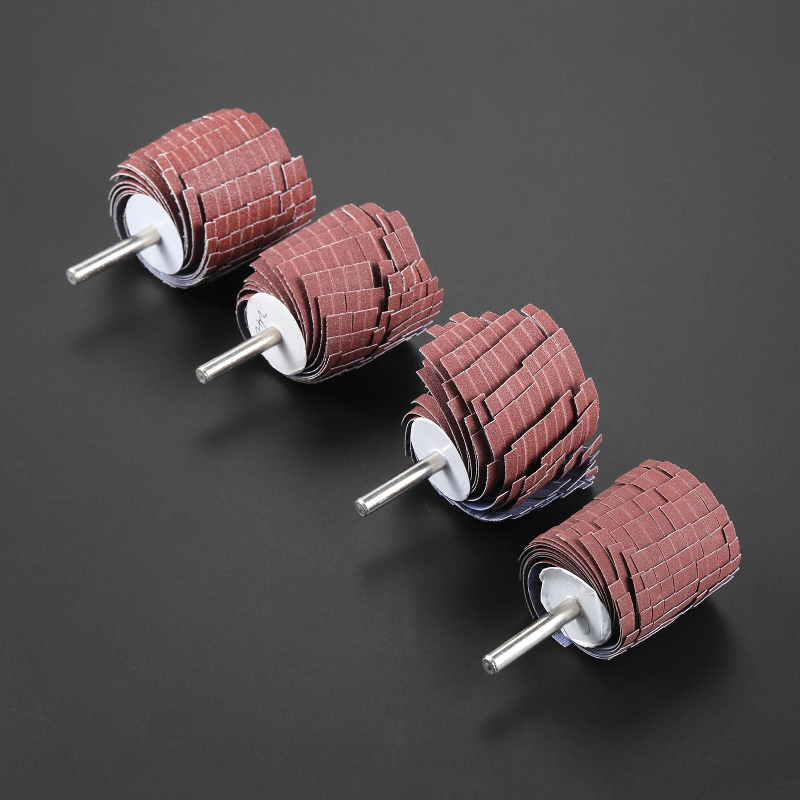 Купить с кэшбэком DRELD 1Pc Dremel Accessories 150-400 Grit Sanding Flap Wheel 6mm Shank Sanding Grinding Sand Paper Shutter Wheel for Rotary Tool