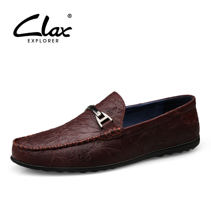 CLAX Man Boat Shoes Genuine Leather 2019 Summer Designer Male Moccasins Mens Casual Loafers Leather Shoe