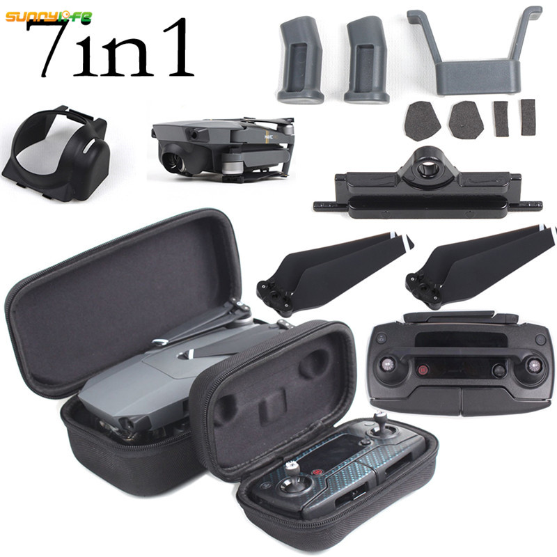 Sunnylife DJI Mavic Pro Accessories 8330F Propeller Remote Control Joystick Drone Body Bag Gimbal Camera Lens Hood Case Buckle