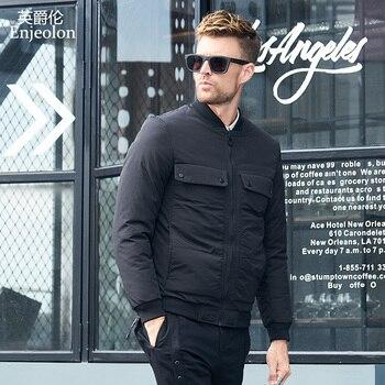 Enjeolon Brand winter Cotton Padded Jacket Men thick Parka coat male black Quilted winter jacket Coat 3XL Men MF0055 фото