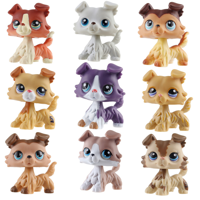 Classic Cute LPS Pet Shop Pvc Cat Toy Tiger Cat Powder Cat Big Dan Dog Model Action Collection Toy Christmas Gift