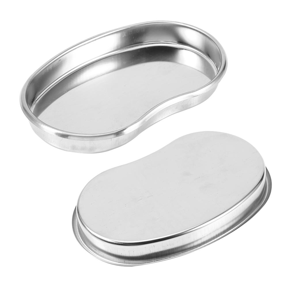 1pc Medical Stainless Steel Small Kidney Shaped Curved Tray Medical Dental Surgical Use Trays  18×11×2cm Well Polished Tray