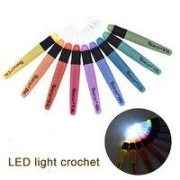 1/8/9pcs LED Light Up Crochet Hook Knitting Needles Set Weave Sewing Craft Tools Kit MYDING