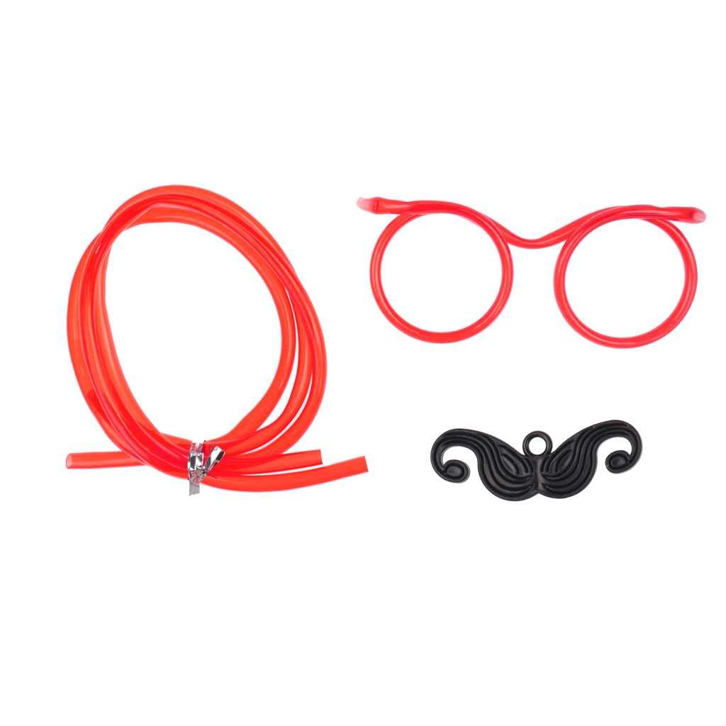 Funny Mustache Crazy Drinking Straw Tube Glasses Eye glass Frames ...