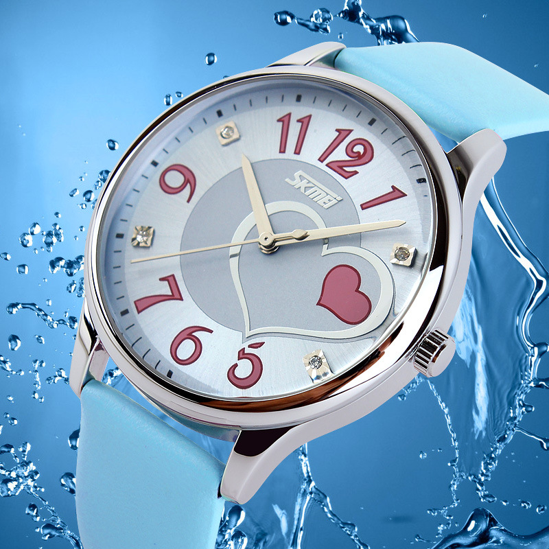 Watch Women SKMEI Luxury Brand Fashion Quartz Watch Women Ladies Leather Watches Casual Clock Female Dress Gift Relogio women men quartz silver watches onlyou brand luxury ladies dress watch steel wristwatches male female watch date clock 8877