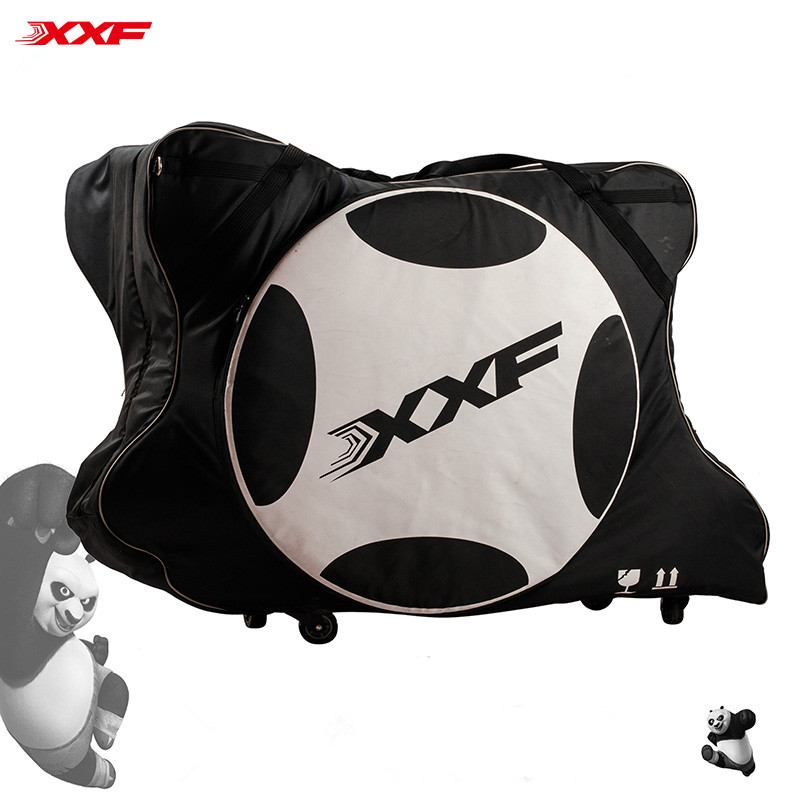 2017 Bicycle Bag Xxf Autoinflated Pad N1602 Transport Travel Bike bag foldable Nylon 1680D Carry Bag Rainproof Soft case New favourite 1602 1f