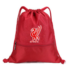 Drawstring Soccer Bag Liverpool Football Clubs Swerve Gym Bag Backpack Sport Bag Advanced Materials Waterproof and Durable