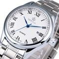 2017 dos homens de luxo de pulso de quartzo orkina relógios completa de aço inoxidável calendário masculino relógios algarismos romanos montre homme negócios