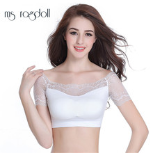 2018 Hot Women Yoga Bra Lace Sleeve Padded Push Up Bra For Running Jogging Gym Shirts Sexy Lace Crop Top Sports Bra Sports Vest