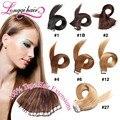 "18"" 20"" 22"" 24"" 20pcs/lot Indian Virgin Hair PU Tape Hair Glue Skin Weft Tape Hair Extensions Free Ship Natural Remy Human Hair"