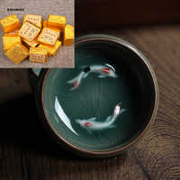 20PCS!!! WIZAMONY Warehouse Clearance Chinese Porcelain Fish Gaiwan tea set Teacups Porcelain Bowl China Tea Pot Celadon Teacup