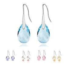 2015 moda Original cristales de Swarovski Crystal cuelga los Pendientes de gota mujeres colgante pendiente mujeres regalo Pendientes