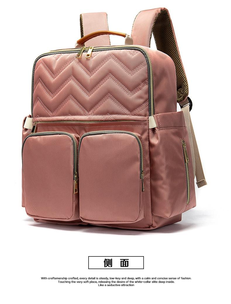 2019 New Baby Diaper Bag Interface Large Capacity Waterproof Nappy Bag Kits Mummy Maternity Travel Backpack Nursing (25)