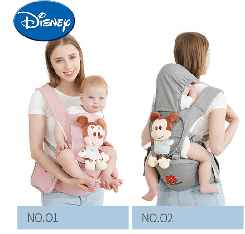 Disney Breathable Multi-functional Front Facing Baby Carrier Infant Baby Sling Mickey Backpack Pouch Wrap Disney Accessories